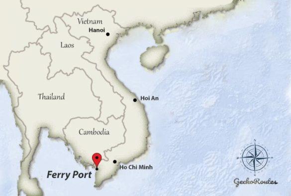 Phu Quoc ferry port Rach Gia-Vietnam