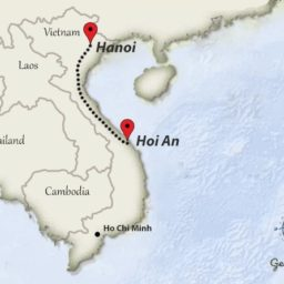 Hoi An to Hanoi travelroute