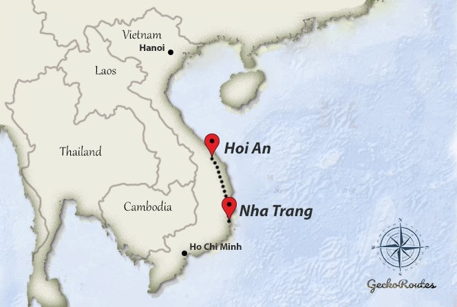 Nha Trang to Hoi An travelroute