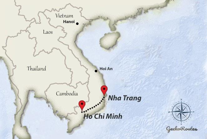 Ho Chi Minh to Nha Trang travelroute