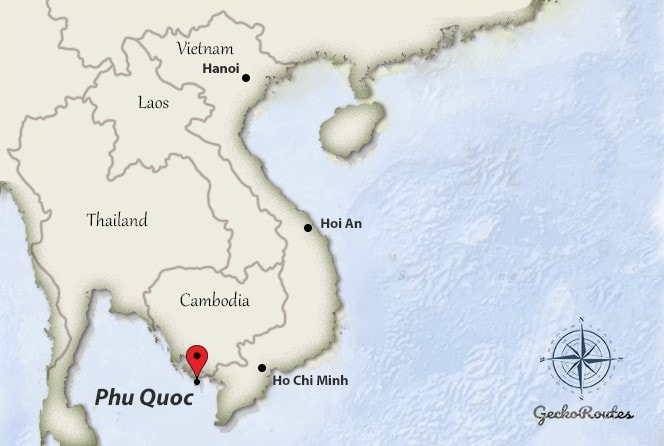 Phu Quoc on map Vietnam