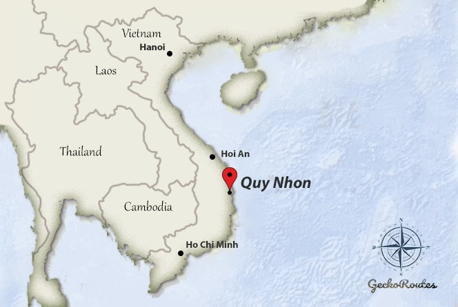 Quy Nhon on map Vietnam