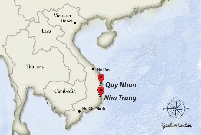 Nha Trang to Quy Nhon travelroute
