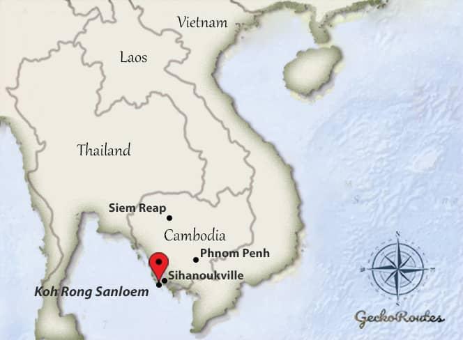Koh Rong Sanloem - Map Cambodia