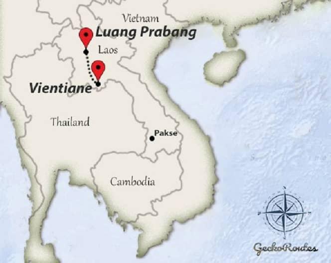 Vientiane to Luang Prabang