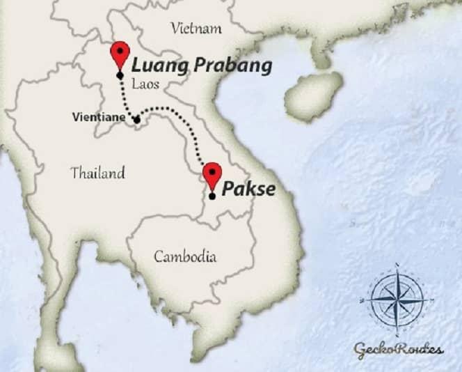 Luang Prabang to Pakse