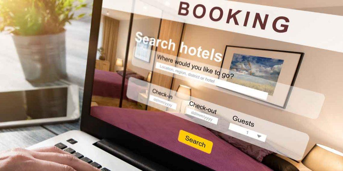 Travel website booking