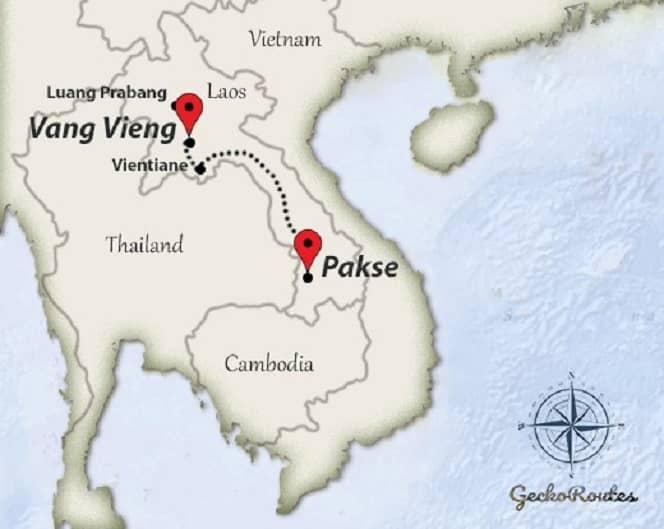 Pakse to Vang Vieng