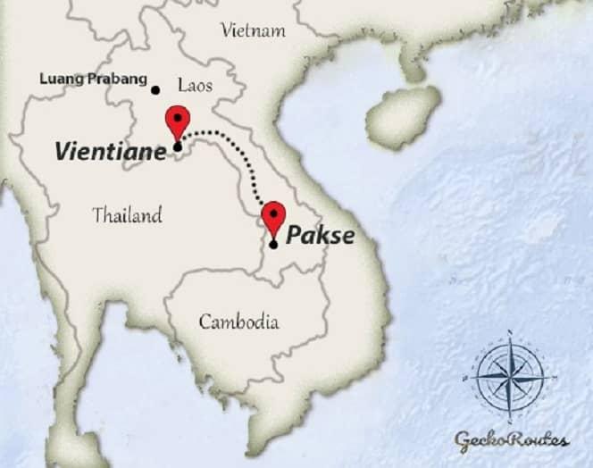 Vientiane to Pakse