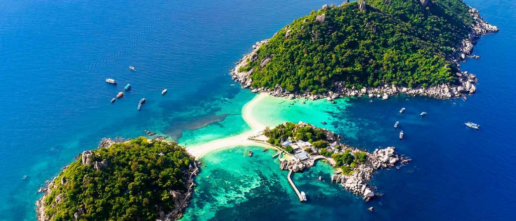 Bangkok to Koh Tao route overviews