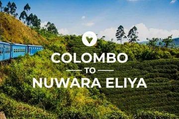 Colombo to Nuwara Eliya route