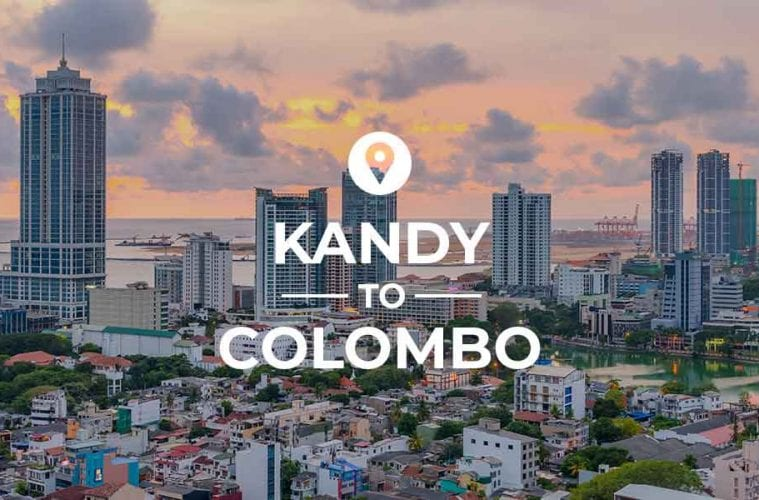 Kandy to Colombo route