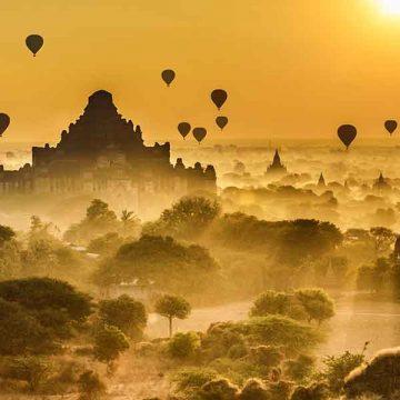 Myanmar Sunset over Bagan