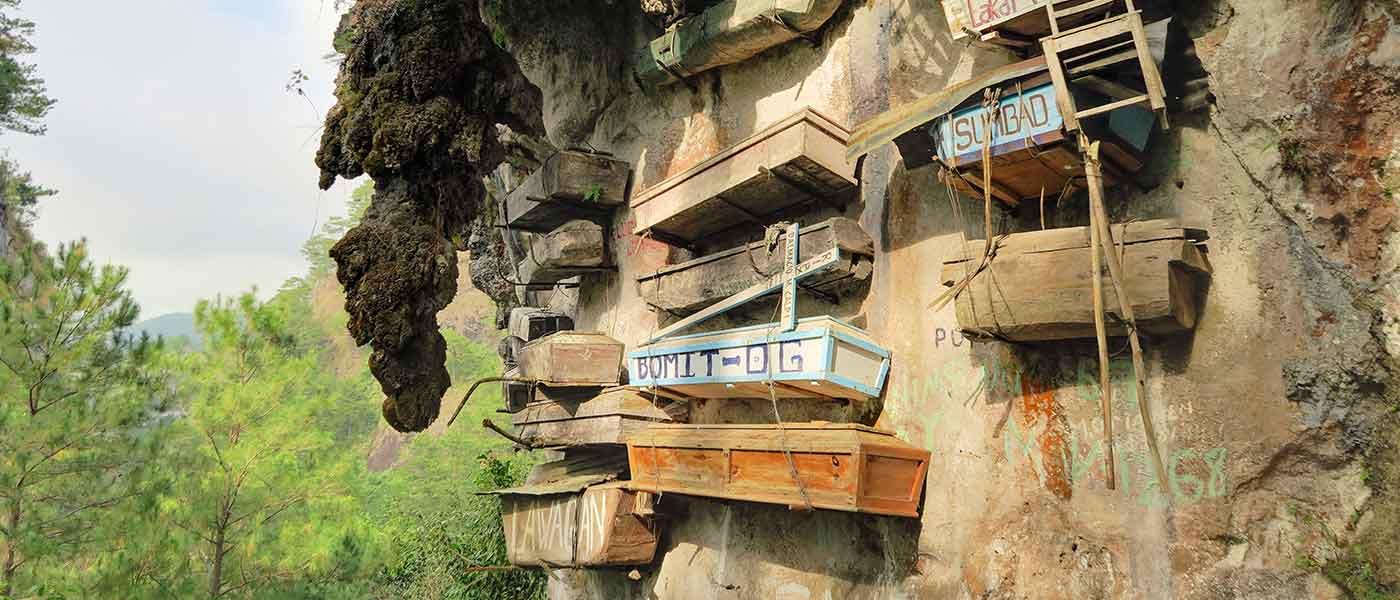 Coffins in Sagada Philippines