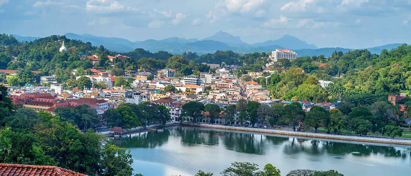 Kandy city lake Sri Lanka