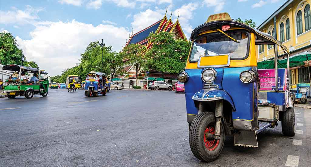 Tuk-Tuk Transportation Bangkok City