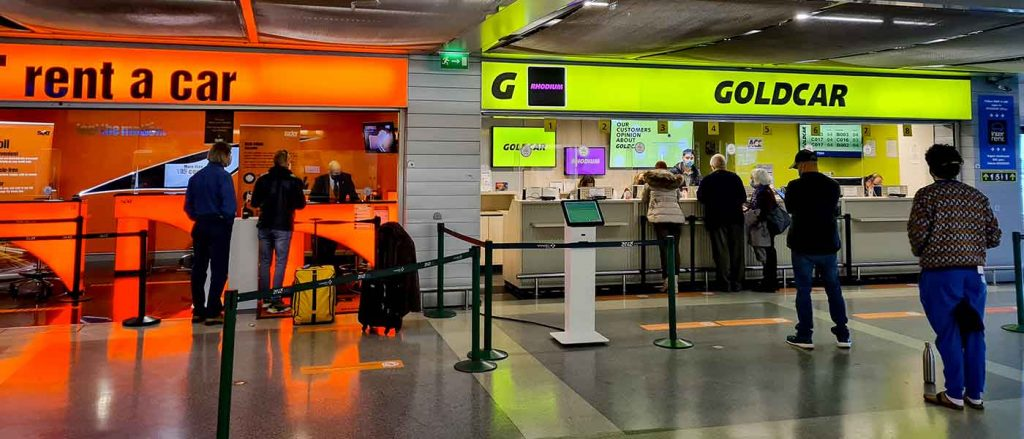 Renting a car at the airport