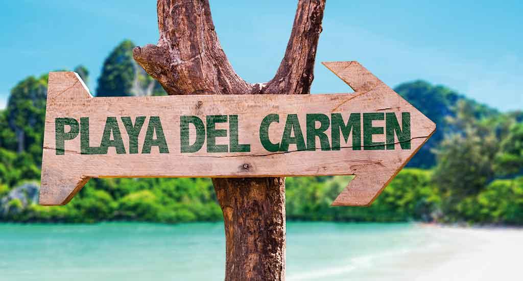 Sign in Playa del Carmen Mexico