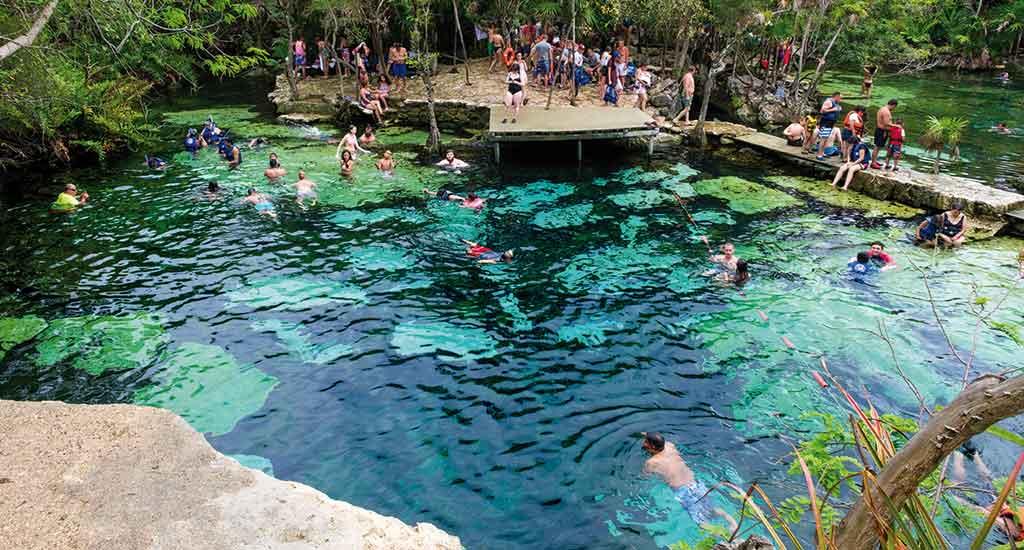 Cenote Azul in Playa del Carmen Mexico