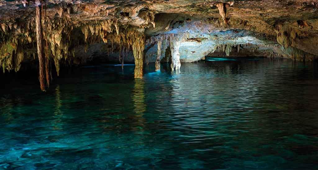 Vast cave system of Cenote Dos Ojos in Tulum Mexico
