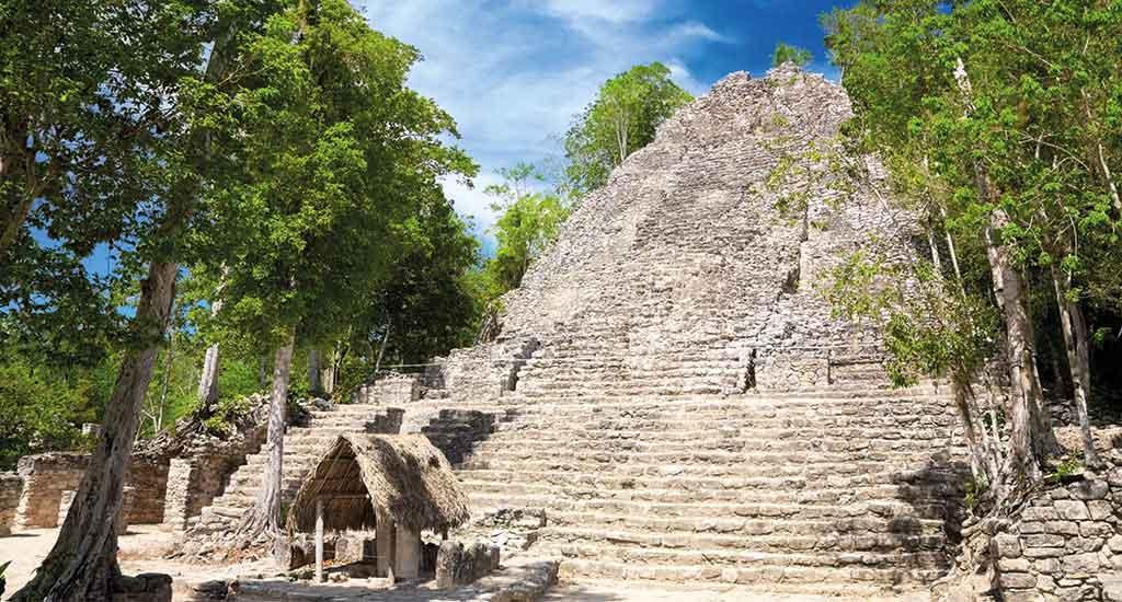 La Iglesia Pyramid in Coba Quintana Roo Mexico