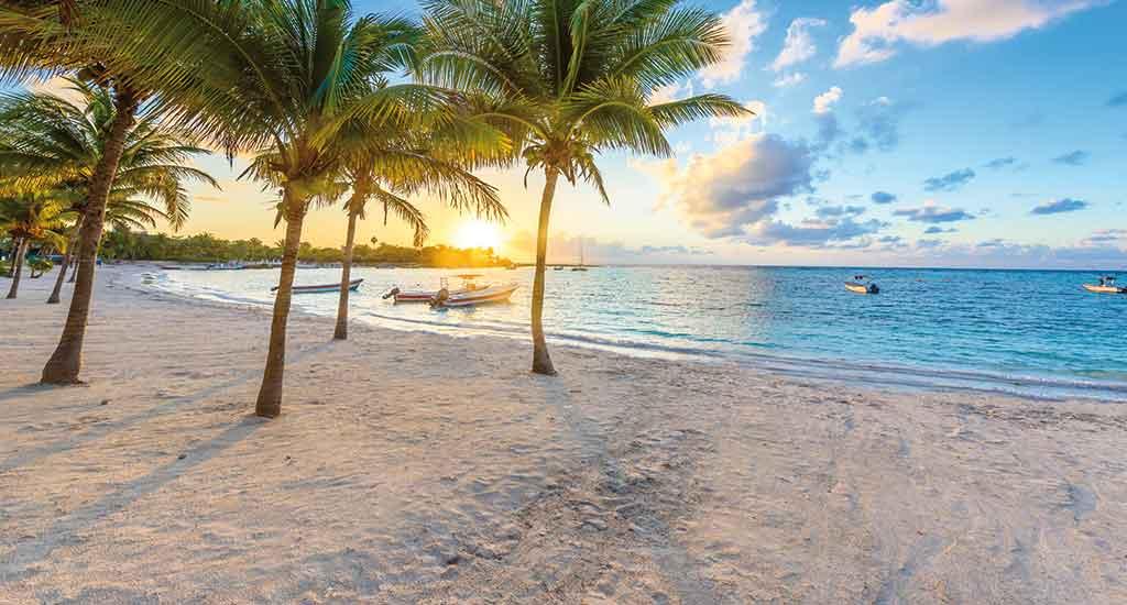 Akumal bay in Yucatan Mexico