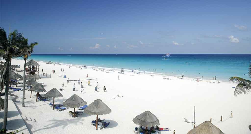 Hotel zone in Cancun Mexico