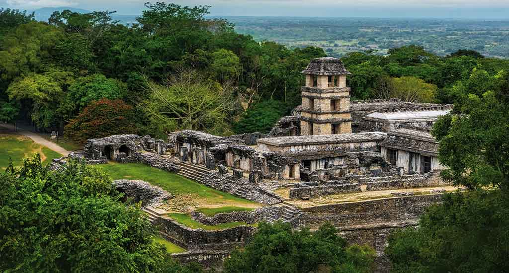 Ancient city of Palenque Mexico