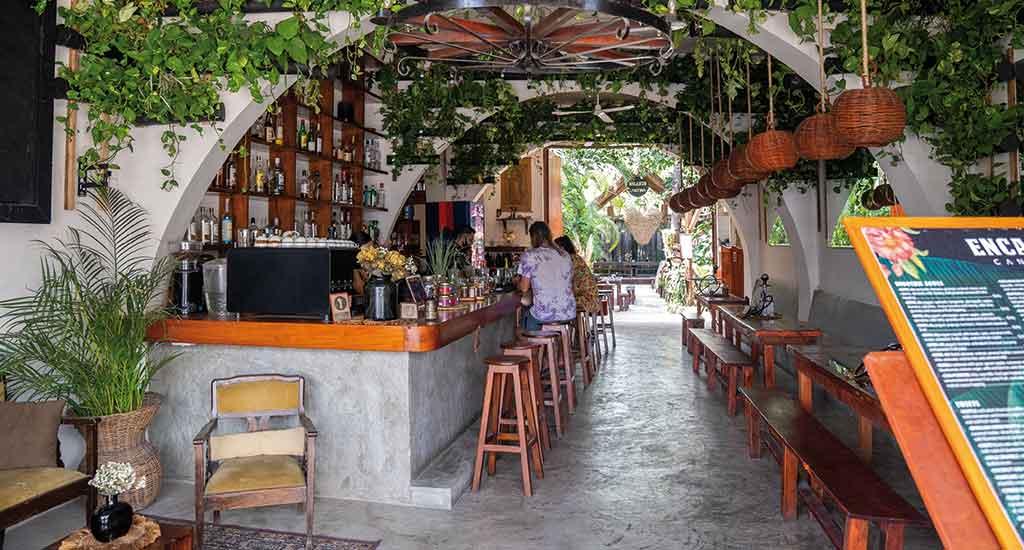 Vintage café in Tulum Mexico