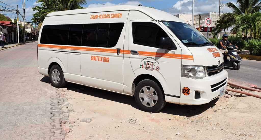 Colectivo Mini Bus in Tulum Mexico