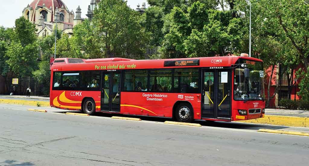 Metrobus in Mexico City Mexico