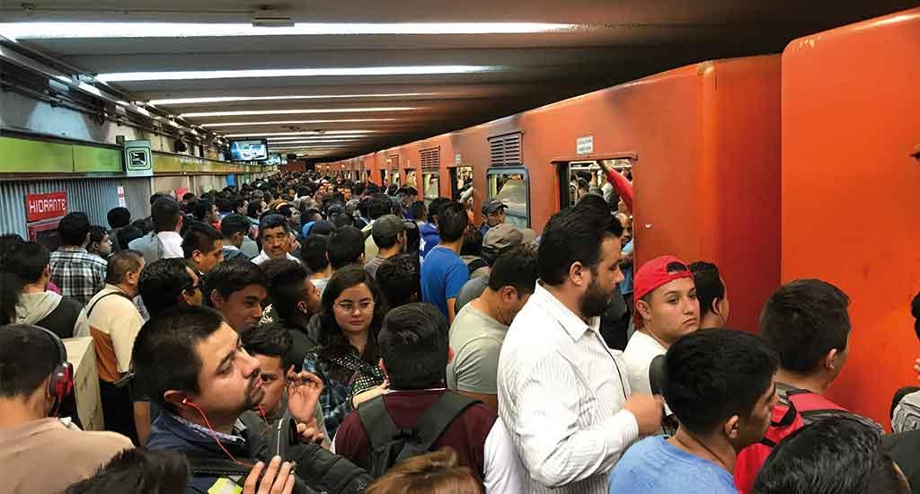 Metro subway in Mexico City Mexico