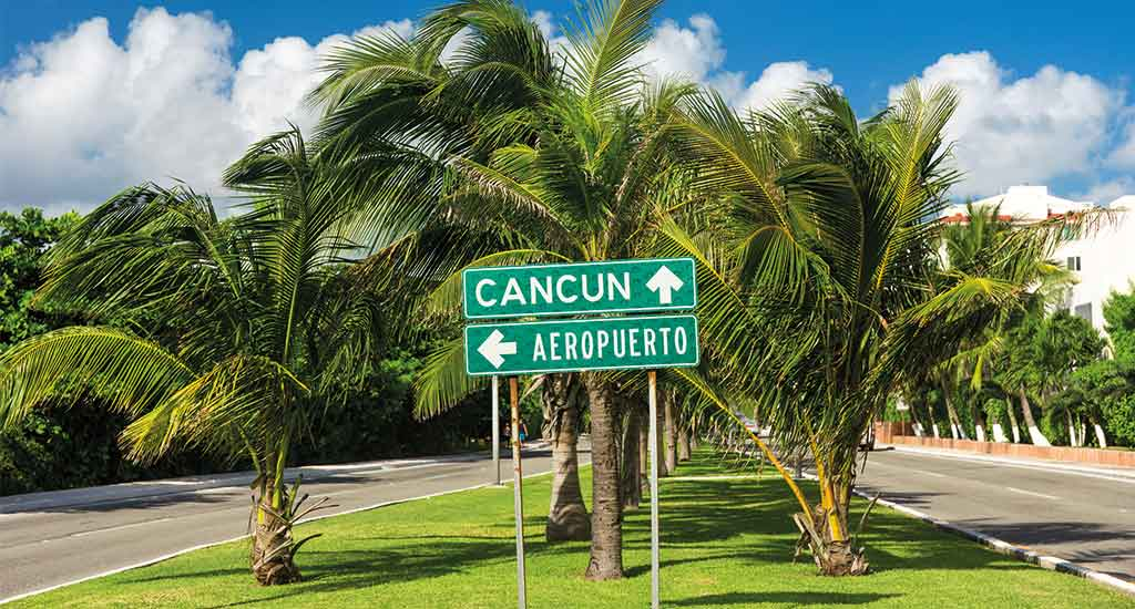 street sign Cancun Mexico