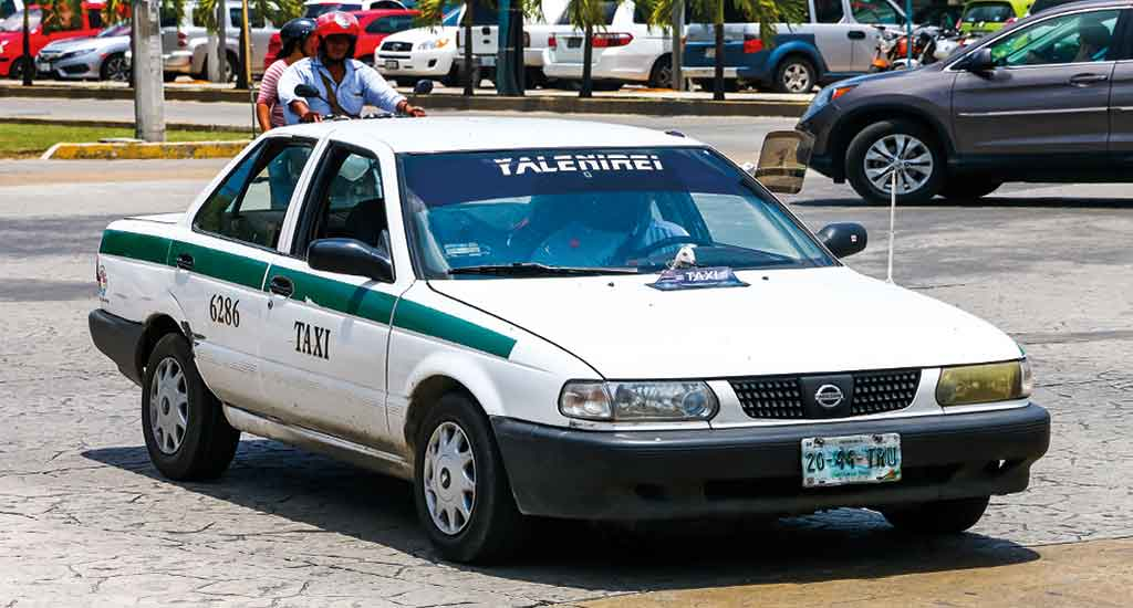 Taxi in Cancun Mexico