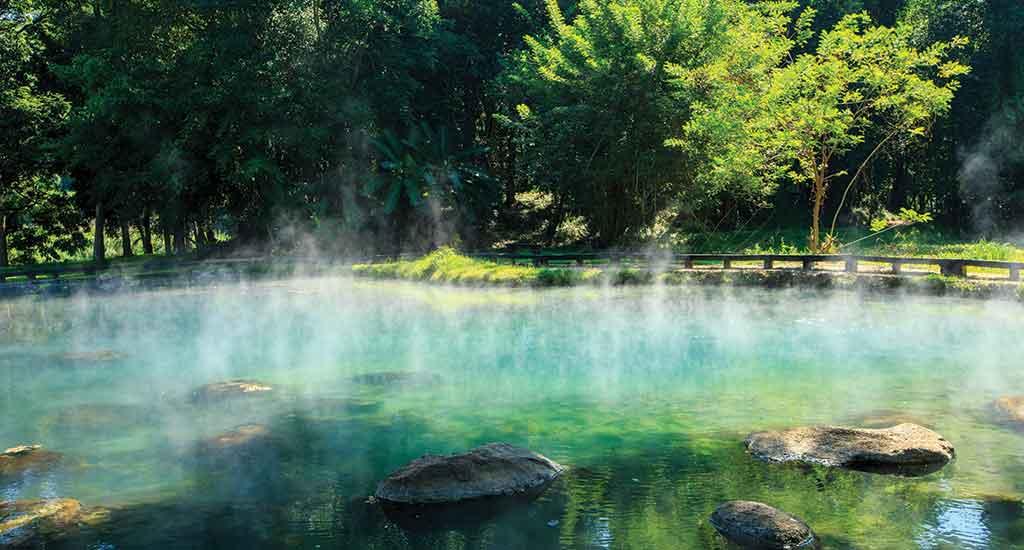 Chiang Rai province Huai Mak Liam hot spring near Kok River