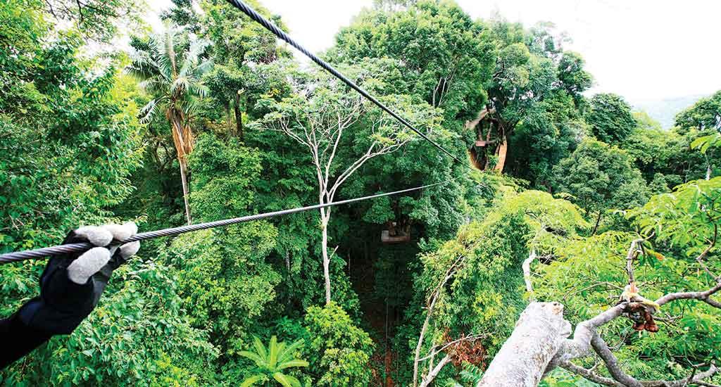 Ziplining in Koh Chang