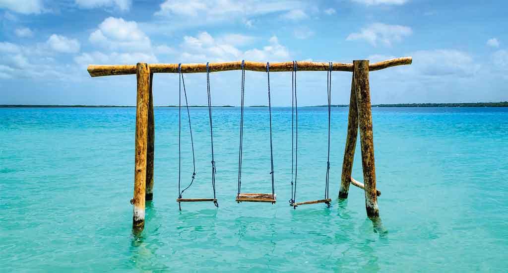 Lake Bacalar in Quintana Roo Mexico