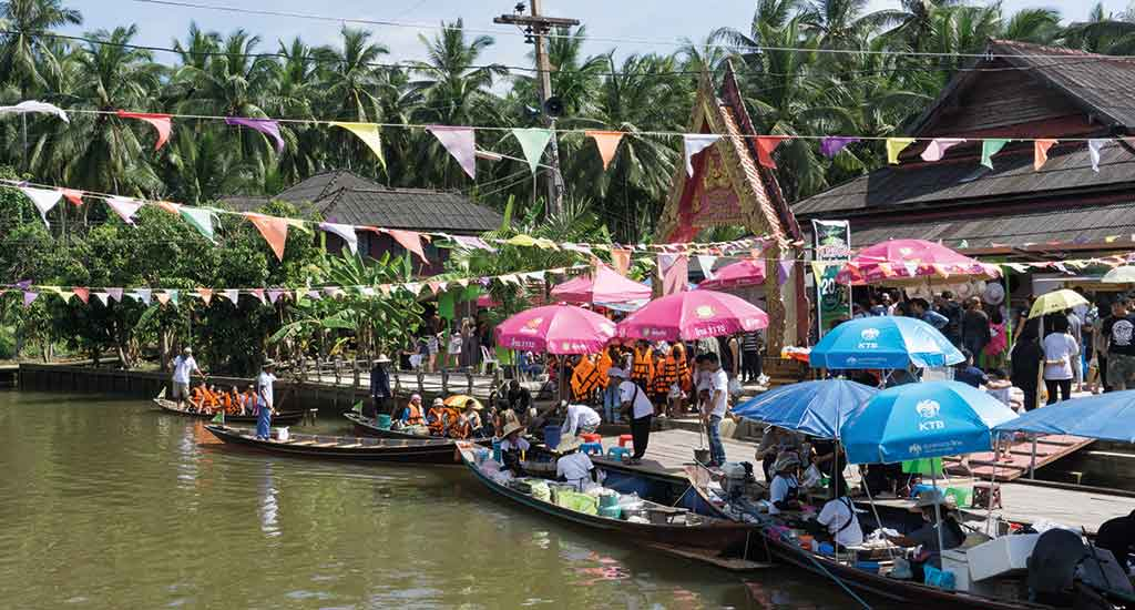 Floating Market in Surat Thani