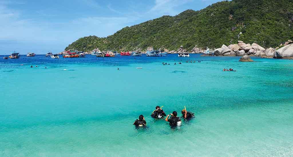 Diving spot on Koh Tao