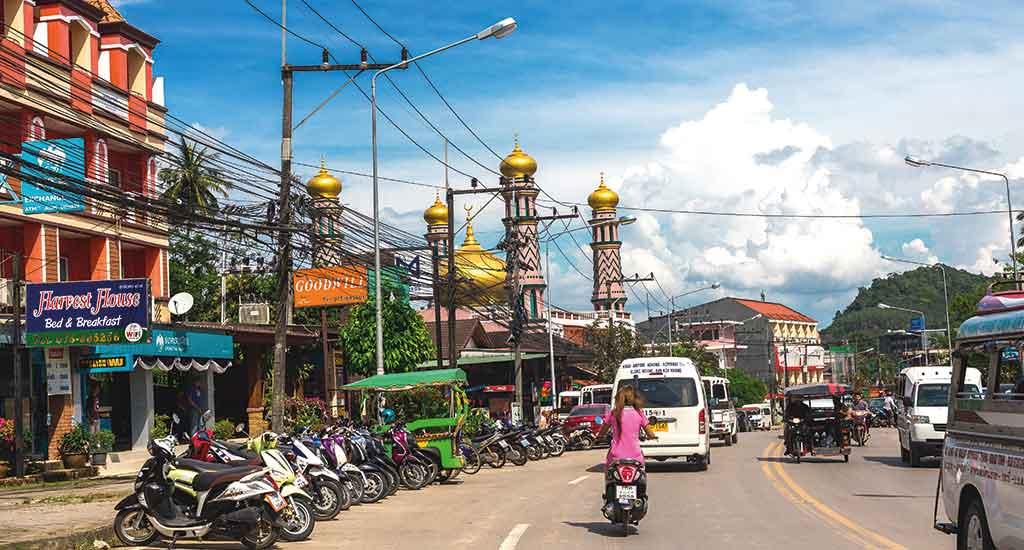 Bustling town of Krabi