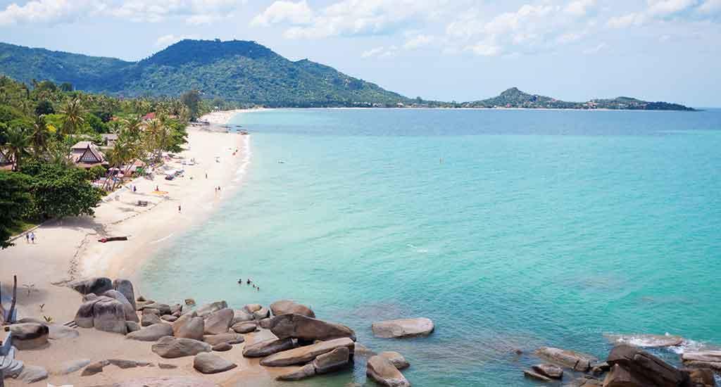 Lamai Beach coast on Koh Samui