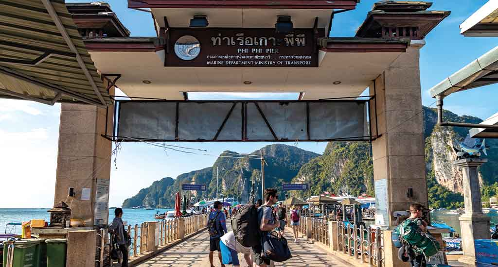 Tonsai Pier at Koh Phi Phi