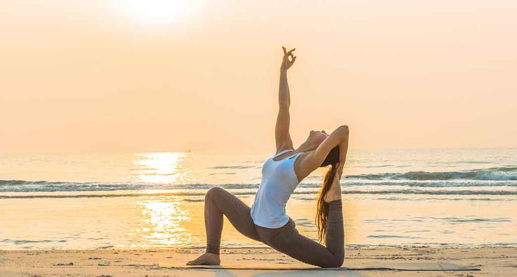 Yoga on the beach at Koh Phangan beach