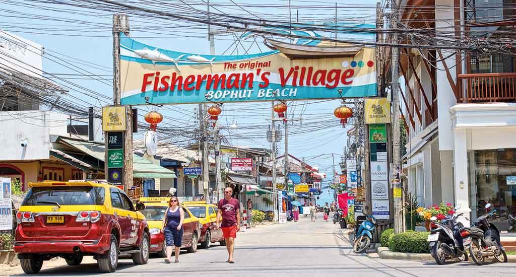 Fisherman Village at Bophut Beach, Koh Samui