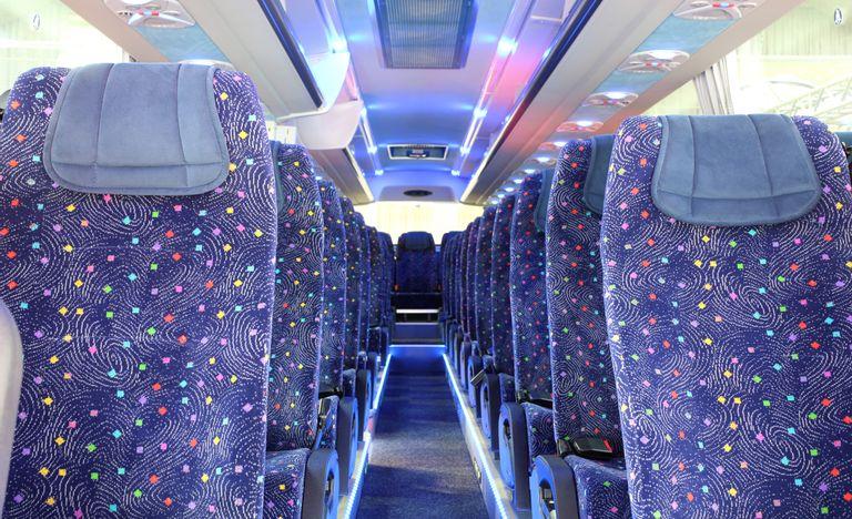 ADO bus inside seating