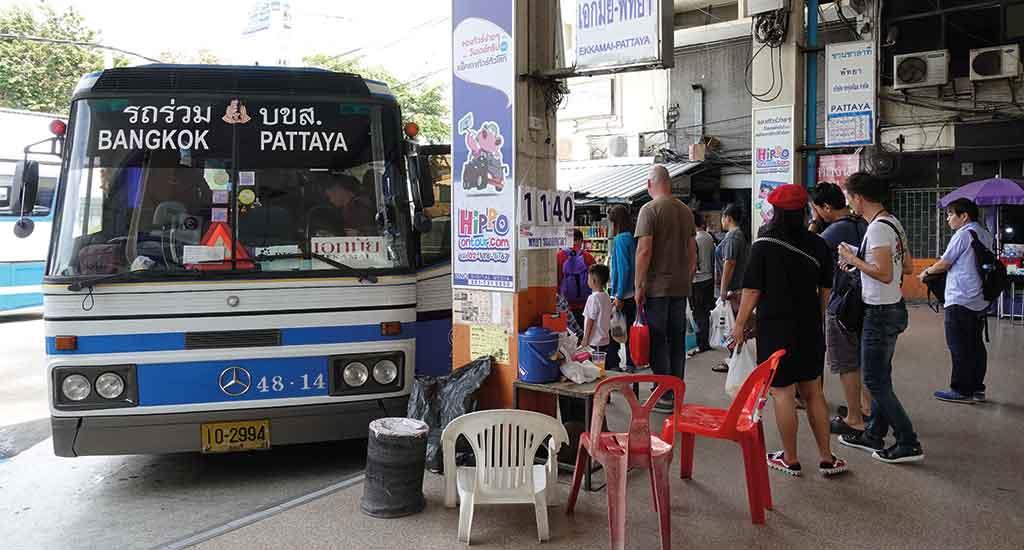 Bus at bus terminal