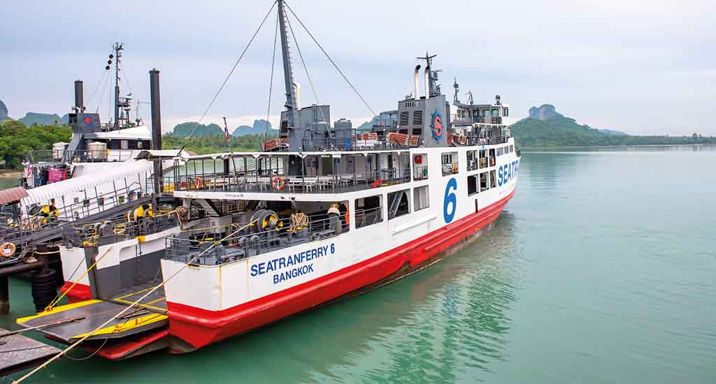 Ferry leaving from Surat Thani