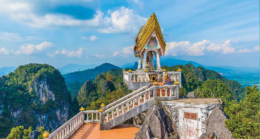 Tiger cave temple or Wat Tham Suea at Krabi province