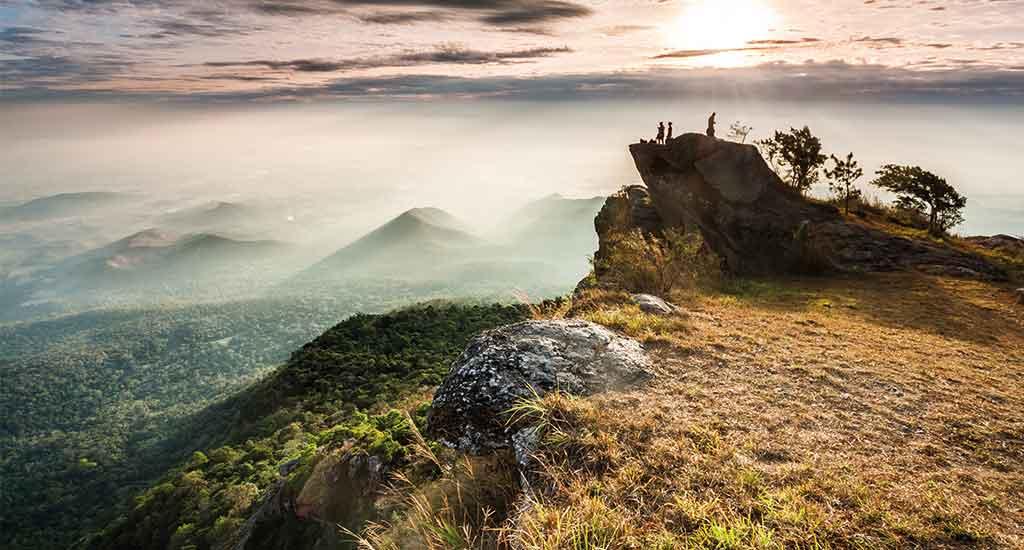 Khao Luang mountain in Ramkhamhaeng National Park