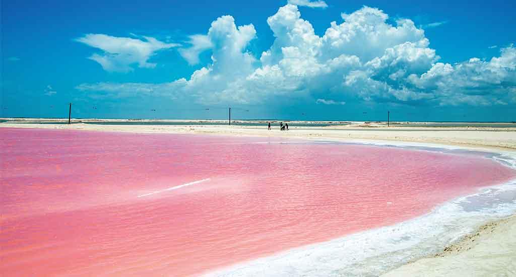 Las Coloradas in Yucatan Mexico